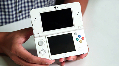 The most recent Nintendo handheld, the New 3DS XL.