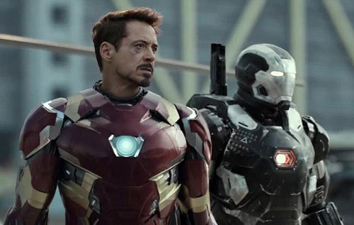 Tony (Iron Man) and War Machine wonder who will win