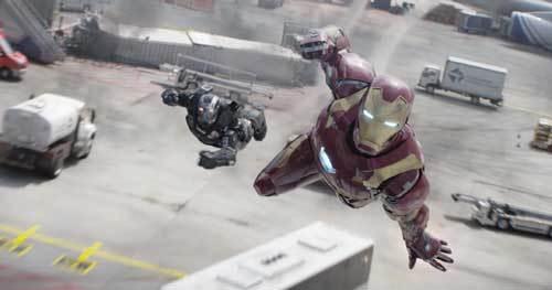 Iron Man and War Machine in battle
