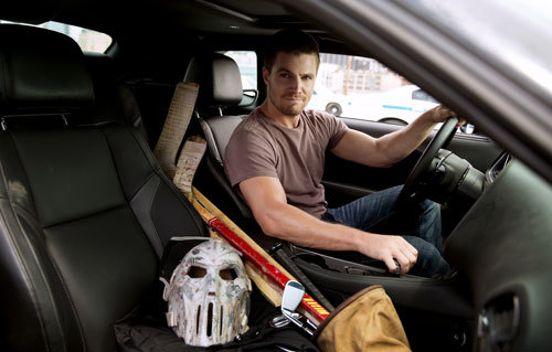 Stephen Amell as Casey with his equipment