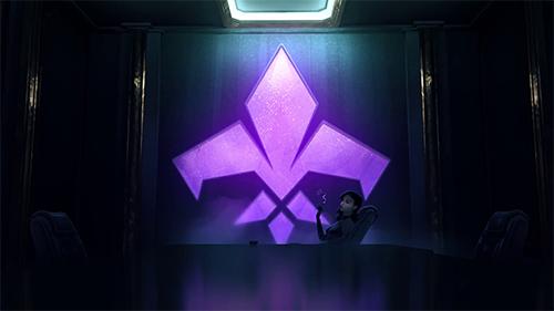 The logo for Agents of Mayhem, similar to the Saints Row Logo.