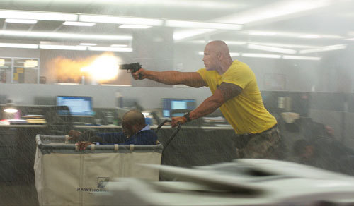 Dwayne in action