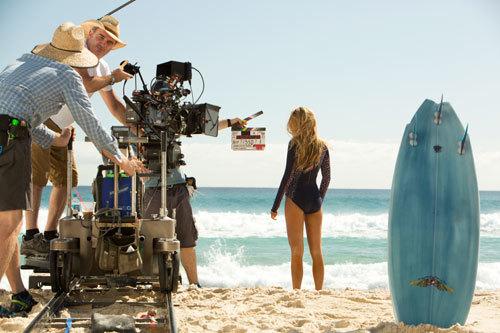 Blake shooting the film