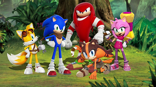 Sonic's redesign for the new game and TV series.