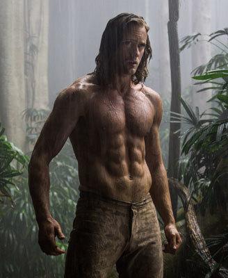 Tarzan (Alex Skarsgård) in his jungle home