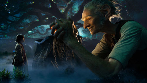 Sophie and the BFG explore the land of dreams