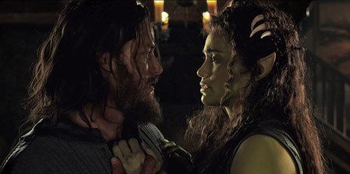 Lothar (Travis Fimmel) declares love for Garona (Paula Patton)