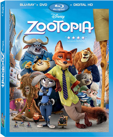 Zootopia Blu-ray cover art