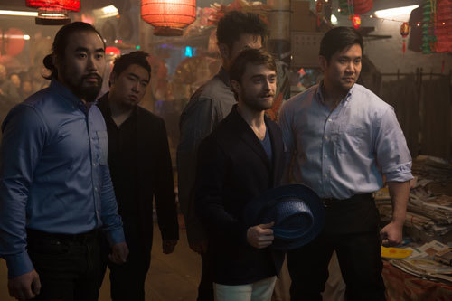 Walter (Dan Radcliffe) with his thugs
