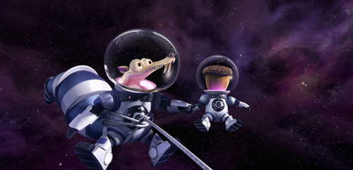 Scrat and his acorn in space