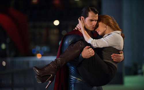 Superman again rescues Lois