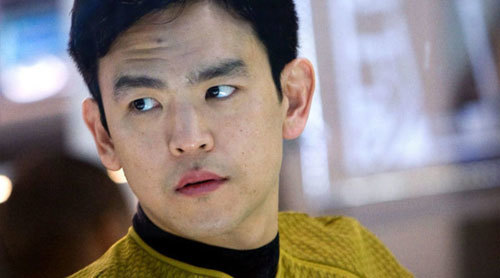 John Cho as Sulu on the bridge