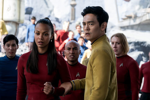 Sulu and Uhura are prisoners