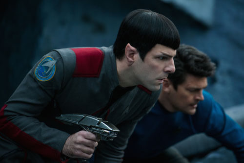 Spock with McCoy gets ready for battle