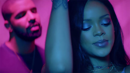 Rihanna and Drake in Work music video