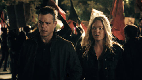 Bourne and old friend Nicky (Julia Stiles) in Greece