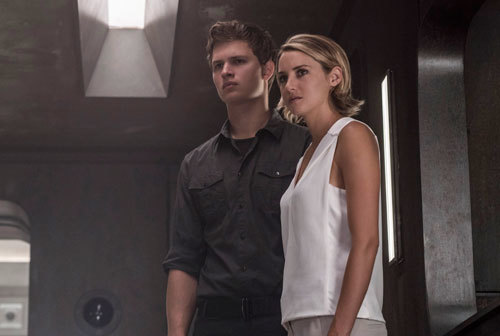 Tris and brother Caleb question the Bureau