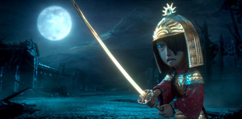 Kubo, wearing his dad's armor, must fight an evil king