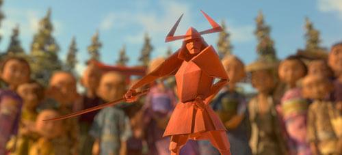 One of Kubo's amazing origami figures