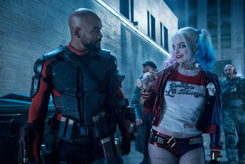 Will Smith as Deadshot and Margo Robbie as Harley Quinn