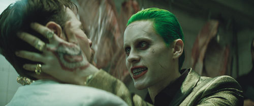 Joker (Jared Leto) terrorizes a victim