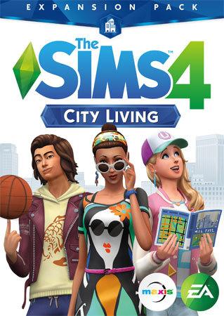 The Sims 4 City Living Box Art
