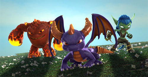 Eruptor, Spyro and Elf unite to fight off evil and protect the Skylands
