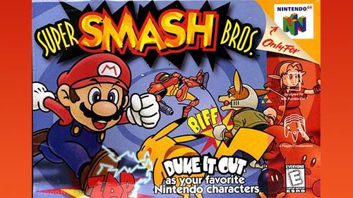 Super Smash Bros' Box Art for the Nintendo 64.