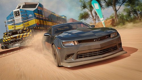 Racing against a train is one Forza's most exciting races.