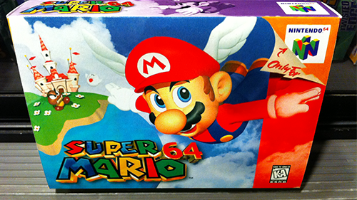 The box that Super Mario 64 came in.