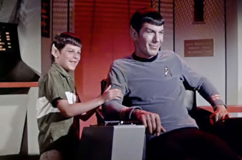 Tween Adam in Spock ears