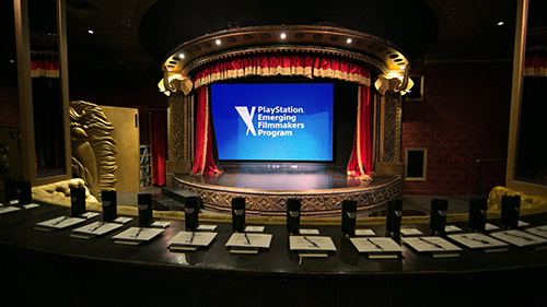 The stage where the contestants presented their pitch.