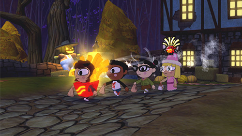 A screenshot from the original Costume Quest.