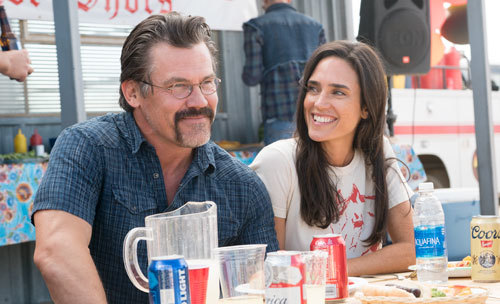 Supe with wife Amanda (Jennifer Connelly) in happy times