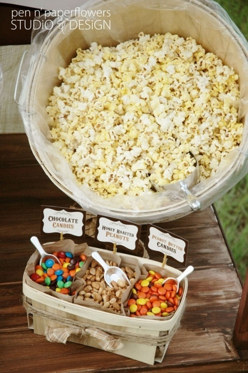 DIY Halloween Popcorn Bar