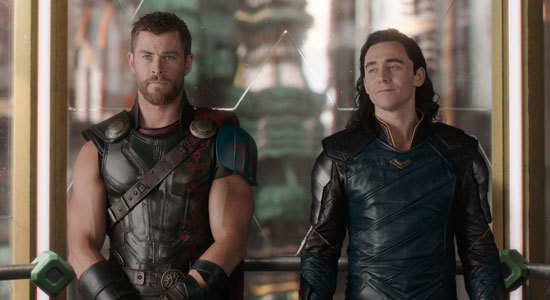 Thor with brother Loki