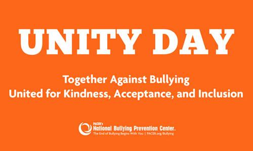 Wear orange on Unity Day