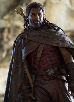 Heimdall (Idris Elba) tries to protect the people