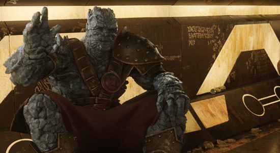 Rock creature Korg wants to start a gladiator rebellion
