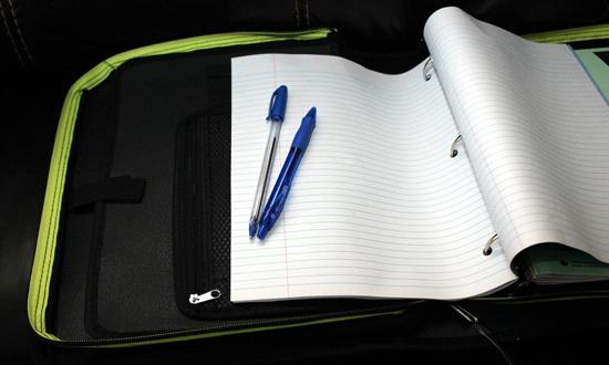 Single binder organizing system