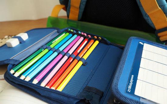 An organized pencil case