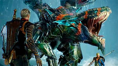 A Co-op battle from a multiplayer demonstation.