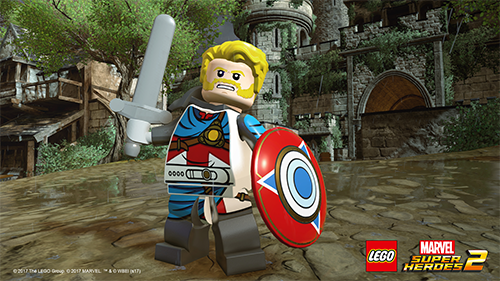 Captain Avalon briefly takes the place of Captain America during the story.