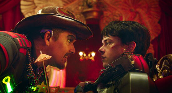 Ethan Hawke as Jolly confronts Dane DeHaan as Valerian