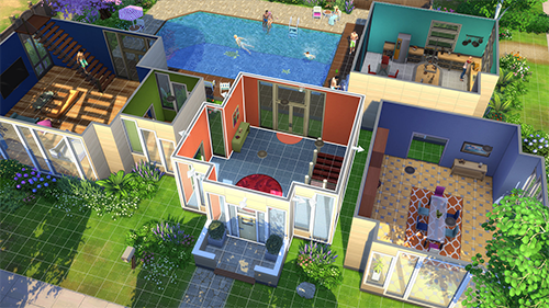 The Sims 4's colorful world is a perfect canvas for creative players.