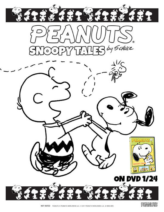 Charlie Brown and Snoopy coloring sheet!