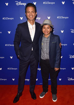 Benjamin Bratt and Anthony at Disney Expo