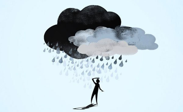 Depression is like a dark cloud over your life.