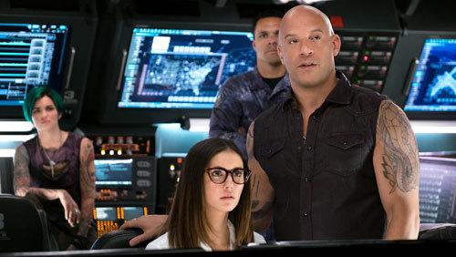 Rebecca (Nina Dobrev) with Xander (Vin Diesel)
