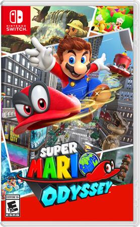Super Mario Odyssey Box Art